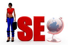 3d woman seo concept Stock Photography
