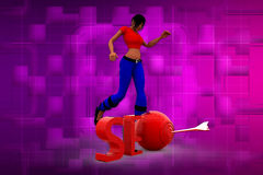3D woman SEO illustration Royalty Free Stock Photos