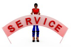 3d woman service banner concept Stock Images