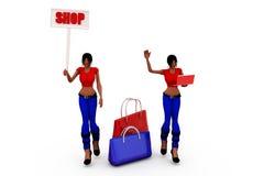 3d woman shop concept Stock Photo