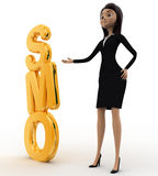 3d woman with SMO text concept Royalty Free Stock Images