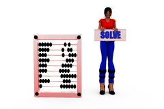 3d woman solve concept Stock Photos