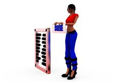 3d woman solve concept Royalty Free Stock Images