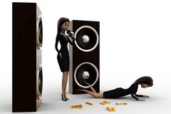 3d woman song so bad loudly concept Stock Photo