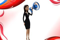 3d character speaker illustration Royalty Free Stock Photography