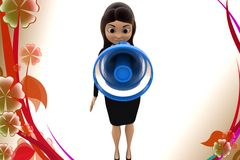 3d character conveying message through  speaker illustration Stock Image