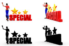 3d woman special concept Collections With Alpha And Shadow Channel Stock Photography