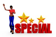 3d woman special concept Stock Image