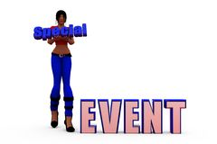 3d woman special event concept Royalty Free Stock Photos