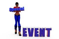 3d woman special event concept Stock Photos