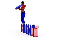 3d woman special event concept Royalty Free Stock Photography