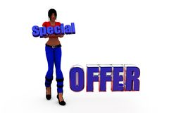 3d woman speciall offer concept Stock Image