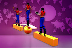 3d woman stability illustration Royalty Free Stock Images