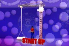 3d woman start  illustraton Stock Image
