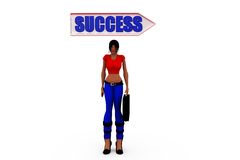 3d woman success concept Royalty Free Stock Images