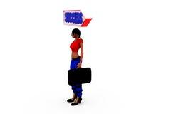 3d woman success concept Stock Photography
