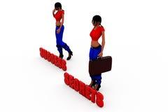 3d woman success secrets concept Royalty Free Stock Image