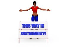 3d woman sustainability concept Stock Images