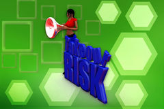 3d woman take risk illustration Royalty Free Stock Photography