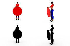 3d woman target concept Collections With Alpha And Shadow Channel Stock Photos