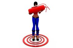 3d woman target concept Stock Photos