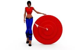 3d woman target concept Stock Images