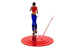 3d woman target concept Stock Photo