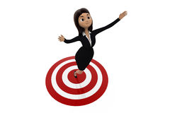 3d woman on target concept Stock Photography