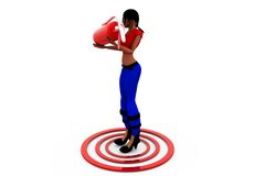 3d woman target concept Stock Photography
