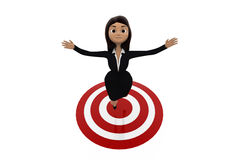 3d woman on target concept Stock Images