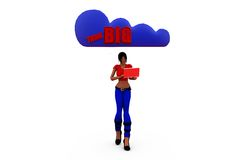 3d woman think big concept Royalty Free Stock Photo