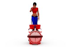 3d woman time bomb concept Stock Photo