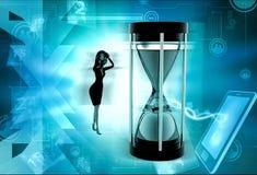 3d woman time limit concept Royalty Free Stock Photos