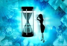 3d woman time limit concept Stock Photo