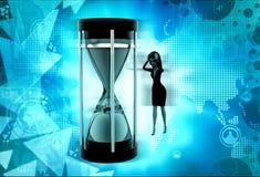 3d woman time limit concept Stock Photos