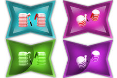3d woman with tool icon Royalty Free Stock Photo