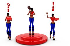 3d woman tool stage concept Stock Images