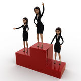 3d woman top winner concept Royalty Free Stock Image