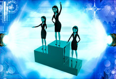 3d woman top winner illustration Royalty Free Stock Photography