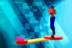 3D woman trail illustration Royalty Free Stock Image