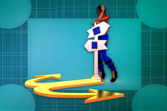 3d woman two path illustration Royalty Free Stock Photography