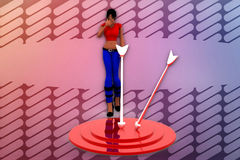 3d woman two path illustration Royalty Free Stock Photos