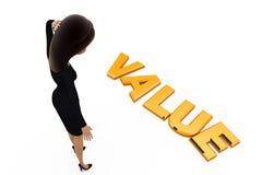 3d woman value concept Stock Photo