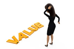 3d woman value concept Royalty Free Stock Images