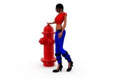 3d woman water pump concept Stock Images
