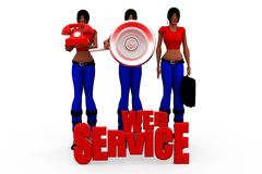 3d woman web services concept Royalty Free Stock Photography