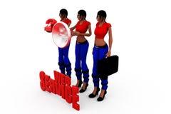 3d woman web services concept Stock Photos