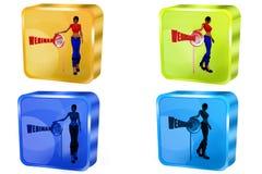 3d woman webinar concept Stock Photography