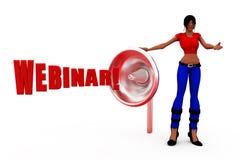 3d woman webinar concept Stock Images
