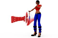 3d woman webinar concept Royalty Free Stock Photography